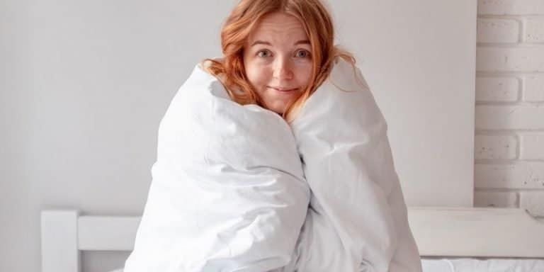 I Started Meditating With A Weighted Blanket And It Changed My Whole Practice
