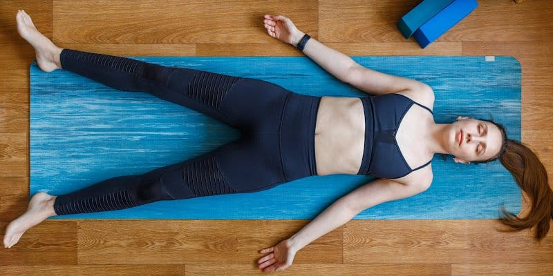 woman doing body scan meditation