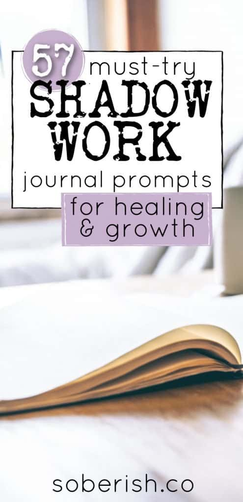 open journal for shadow work prompts