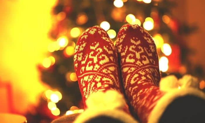 christmas slippers spending the holiday alone